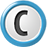 white blue C icon png