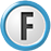 white blue F icon png
